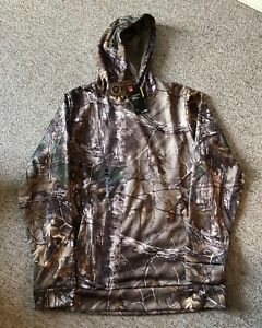 NWT Under Armour Mens Big and Tall Storm Camo Hoodie Hunting Realtree  Xl tall.