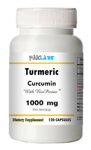 Turmeric Curcumin BioPerine 1000mg Serving High Potency 120 Capsules Pill Best