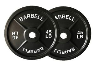 Fake Weights 45lb Barbell Plates
