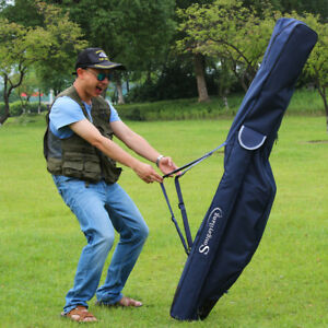 Fishing Rod Bag Carrier Canvas Portable Waterproof Fishing Pole Tools Bag Case