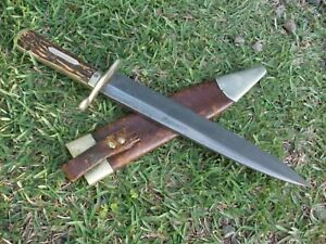 G. Wostenholm antique Bowie knife c. late 1850's to '60's. Civil War probably.