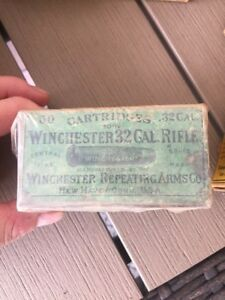 Winchester 32 Cal Vintage Box And Many Other