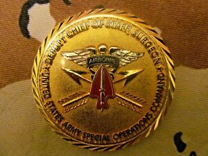 US SPECIAL OPERATIONS COMMANDDEPUTY CHIEF OF STAFF SURGEON  CHALLENGE COIN