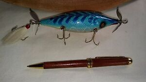 LARGE 5 HOOK CUSTOM COLOR WOODEN MINNOW HAND MADE from SCRATCH