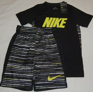 New With Tag Nike Dry Boys Dri Fit T-Shirts & Shorts Outfit  Size L