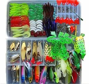 Fishing Lure Kit for Freshwater Saltwatertrout Bass Salmon with Free Tackle Box