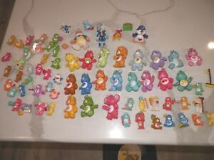 VINTAGE 1980's LOT OF CARE BEARS AND FRIENDS VINYL FIGURES 3 14