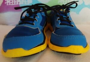 Under Armour Boy's Blue and Yellow Tennis Shoes Size 12K