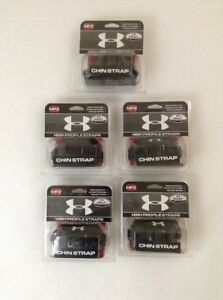 New Lot of 5 Under Armour HeatGear MPZ High Profile Chin Strap Adult Black