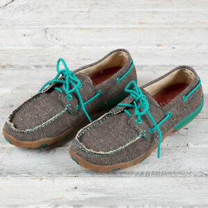 Twisted X Women's ECO TWX  Dust & Turquoise Driving Moccasin WDM0085