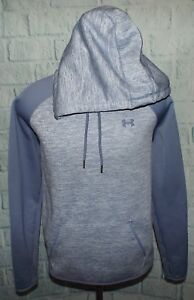 Men's Under Armour Hoodie Storm 1 Sweatshirt Hooded Blue Gray XL Training