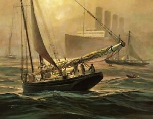 Sailing and Maritime Art Lithographs Limited Editions Mint Thomas Hoyne $144.00