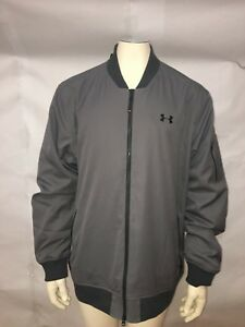 Under Armour Men Size 3XL Loose Fit Golf Storm Full Zip Up Gray Jacket New