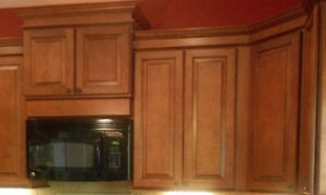 Full Kitchen-Winchester Maple Cognac Cabinets-Wood Pantry-Sink