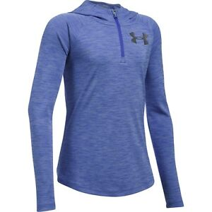New w Tags UNDER ARMOUR Girls Youth Large Tech 14 Zip Printed Hoodie FREE SHIP