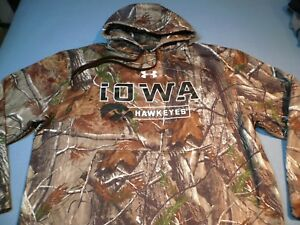 Under Armour Iowa Hawkeyes Realtree EXTRA LARGE Loose Fit BRAND NEW Hoodie UA IA
