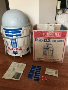 Star Wars R2-D2 Toy Toter (1983 Toy Box) Open Box Looks Unused Near Complete