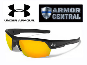 NEW Under Armour UA Igniter 2.0 Sunglasses - Satin Black Frame  Orange Lens