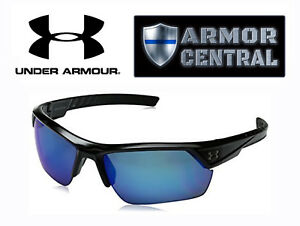 Under Armour Igniter 2.0 Polarized Sunglasses - Shiny Black Frame  Blue Lens