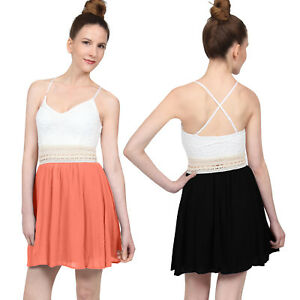 NE PEOPLE Womens Casual Front Detailed Solid Color Flared Mini Dress NEWDR206 $22.49