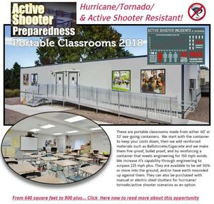 Hurricane & Tornado Shelters (Bullet-Proof) Classroomsofficesclinics by UCH