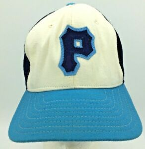 Vintage Letter P Sewn Patch New Era Snapback Hat Made In USA Green Underbrim