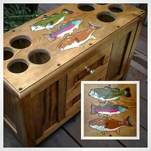 ROD & REEL CABINET fly fishing rods WARMWATER smallmouth largemouth bass musky