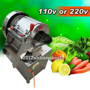 300kgh multi-function vegetable cutter Electric Commercial Cutting Machine 110V