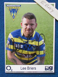 HAND SIGNED - Lee Briers - Warrington Wolves - 6
