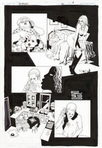 Original Art for 100 Bullets #90 pages 2 and 3 by Eduardo Risso