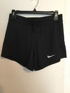 Women's-Size-XS-Shorts-Black-Nike-Athletic-Training-Dri-Fit-Solid-Drawstring-NWT