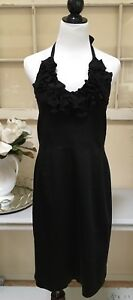 Nordstrom Cocktail Dress Formal Attire Taylor Dresses Black Short Halter Dress 8