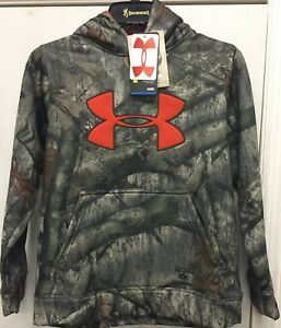 Under Armour Youth Camo Big Logo Hoodie Mossy Oak Treestand YOUTH M AND L