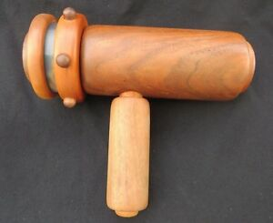 Vintage Wood Kaleidoscope Signed David Collier 9.5
