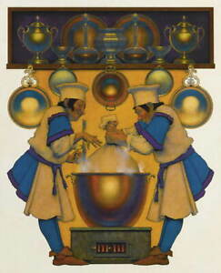 Maxfield Parrish Two Cooks And A Haggis Giclee Canvas Print Paintings Poster