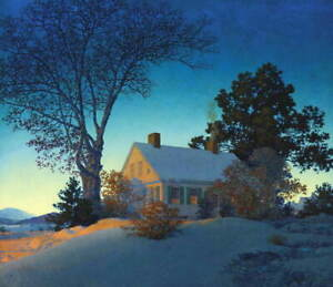 Maxfield Parrish Norwich Giclee Canvas Print Paintings Poster Reproduction