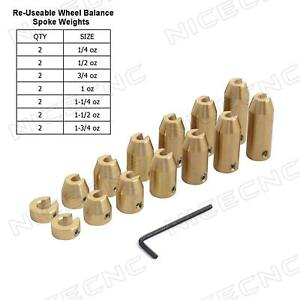 NICECNC Motorcycle 14 Pack Reusable Brass Wheel Spoke Balance Weights Refill for