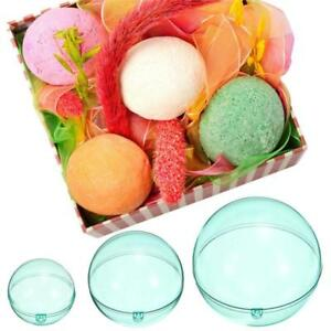 5Pcs Round Clear Bath Bomb Mould Ball Making Plastic Baking Pastry Chocolate Pla