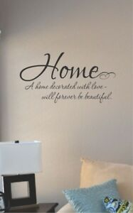 Home a home decorated with love vinyl wall art decal sticker home house deco