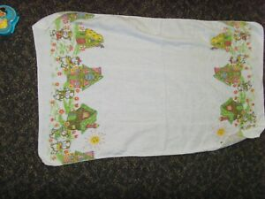 Vintage three little pigs fairy tale baby cloth cutter fabric material storybook