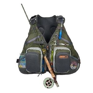 Fishing Tackle Backpack Fly Angler Gear Accessory Vest Water Bladder Rod Outdoor