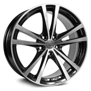 RTX FORCE Wheels 15x6.5 (42 4x100 73.1) Black Rims Set of 4