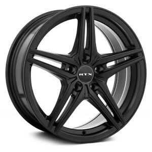 RTX BERN Wheels 16x7 (40 4x100 73.1) Black Rims Set of 4