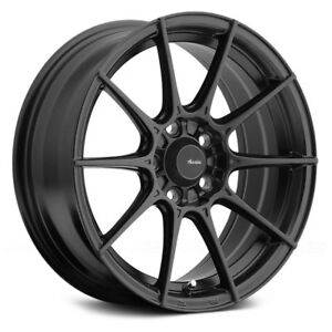 Advanti Racing STORM S1 Wheels 17x7 (35 4x100 73.1) Black Rims Set of 4