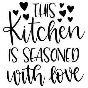 This Kitchen is Seasoned with Love Vinyl Wall Graphic Decal Sticker