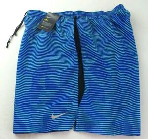 NIKE Men's Shorts XXL Blue Green Mesh Brief Athletic Training Dry Fit Challenger
