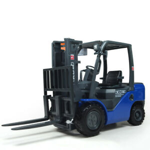 1:20 Forklift Truck Construction Vehicle Alloy Diecast Model Toy Vehicle Blue