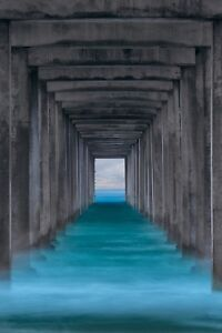 Peter Lik Ocean Window Scripps Pier California 39H x 26W Vertical blue
