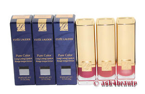 Estee Lauder Pure Color Long Lasting Lipstick Choose Shade .13oz New In Box