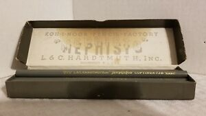 VINTAGE MEPHISTO WRITING COPYING PENCILS LEAD WOOD 73B EXTRA HARD 12 BOXED